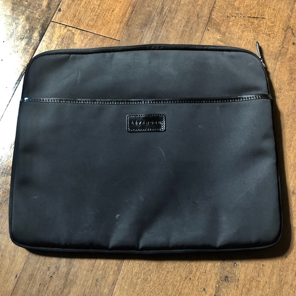 Levenger Other - Levenger Leather & Nylon Soft Laptop Case Folio